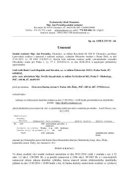 Usnesení - Městský úřad, Kutná Hora