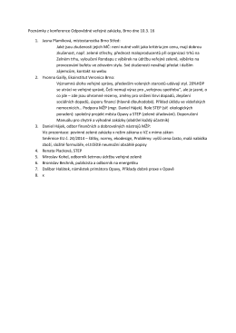 Odpovědné veřejné zakázky - Poznámky