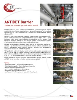 ANTIDET Barrier - VST engineering