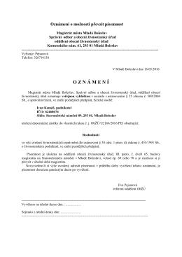 Veřejná vyhláška - Ivan Keméň