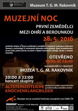 Muzejní noc - Muzeum T. G. M. Rakovník