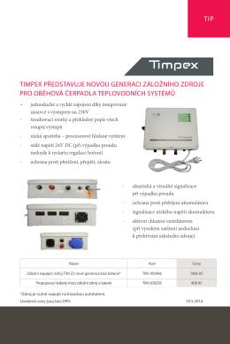 timpex představuje novou generaci záložního zdroje pro oběhová