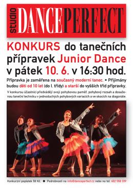 KonKurs do tanečních přípravek Junior Dance v
