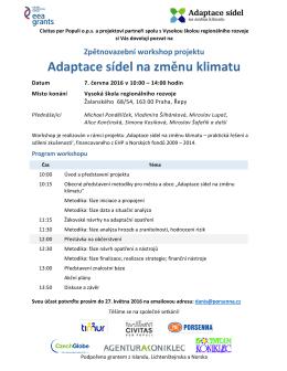 Pozvánka a program workshopu ke stažení