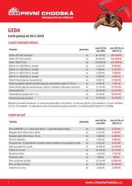 Ceník platný od 20.5.2016 geda