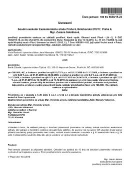 Stáhnout PDF - Exekutorský úřad Praha 6 Mgr. Zuzany Sobíškové