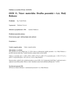 OSM 11. Název materiálu: Dražba pozemků v k.ú. Malý