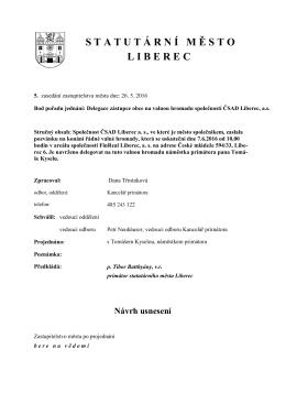 587,8 kB - Statutární město Liberec