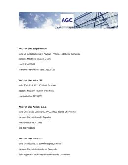 AGC Flat Glass Bulgaria EOOD sídlo ul. Sveta Ekaterina 3, Pavlovo