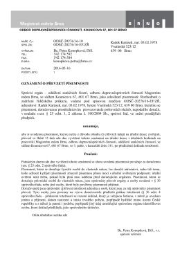ODSČ-20276/16-10 ODSČ-20276/16-EF/ZŘ Bc