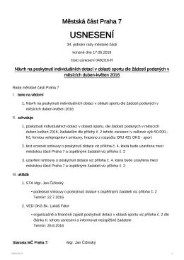 0492/16-R - MČ Praha 7