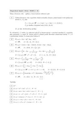 Doporučené domácí cvičení z MA03 (č. 13) Téma: Greenova věta