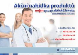 Akční nabídka pro praktické lékaře 2016