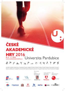 ČESKÉ AKADEMICKÉ HRY 2016 Univerzita Pardubice
