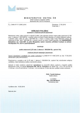 NARANGEREL Batsaikhan - Ministerstvo vnitra České republiky