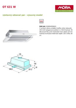 Produktový list OT 631 W