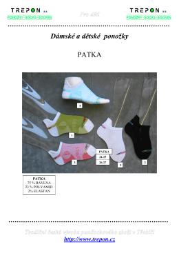 Dámské a dětské ponožky PATKA