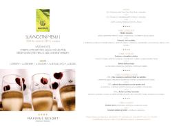 slavnostní menu - Maximus Resort