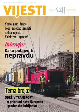 Vijesti br:19 - Sindikat željezničara Hrvatske