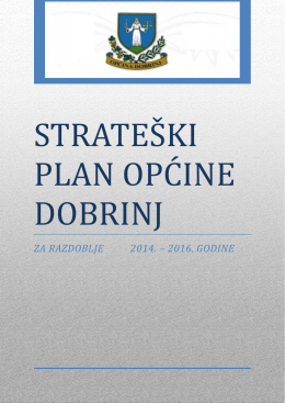 strateški plan općine dobrinj