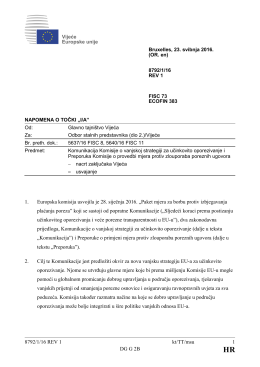 8792/1/16 REV 1 kt/TT/msu 1 DG G 2B 1. Europska komisija usvojila