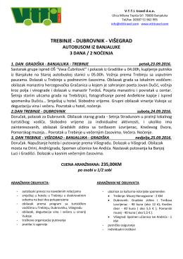trebinje - dubrovnik - višegrad