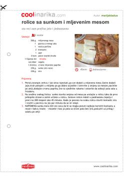rolice sa sunkom i mljevenim mesom