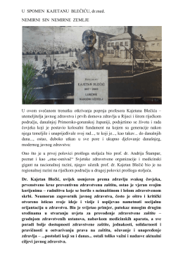 nemirni sin nemirne zemlje - Nastavni Zavod za javno zdravstvo PGŽ