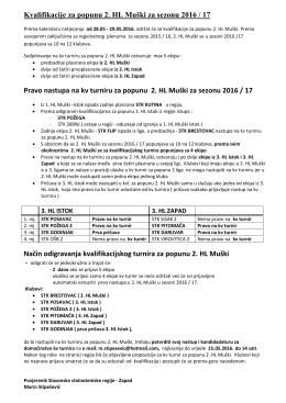 Kvalifikacije za popunu 2. HL Muški - slavonija