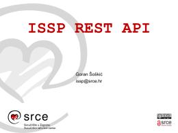 ISSP REST API