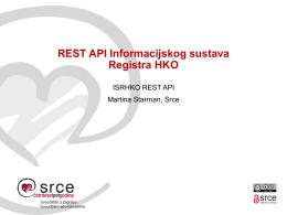 REST API Informacijskog sustava Registra HKO