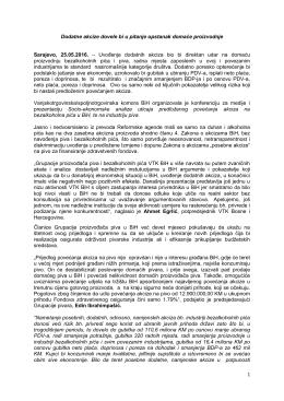Saopštenje - Vanjskotrgovinska / Spoljnotrgovinska komora BiH