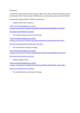 Probni pristup u zbirke audio, video i tekstualne akademske