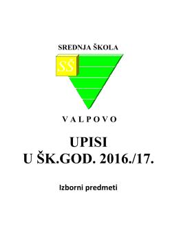 Izborni predmeti - Srednja škola Valpovo