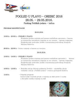 pogled u plavo – orebić 2016 28.05. – 29.05.2016.
