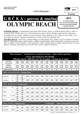 olympic beach - Global Travel Servis