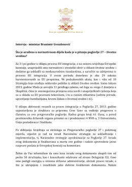 intervju ministra - Vlada Crne Gore