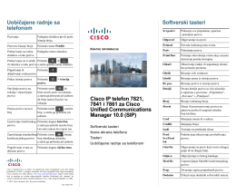 Cisco IP telefon 7821, 7841 i 7861 za Cisco Unified