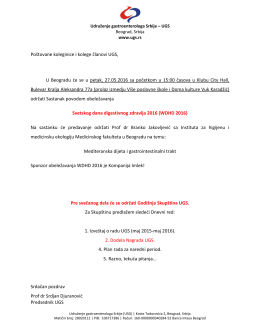 PDF dokument - Udruženje Gastroenterologa Srbije