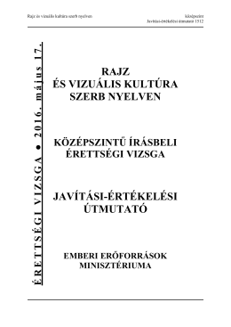 rajz és vizuális kultúra szerb nyelven javítási