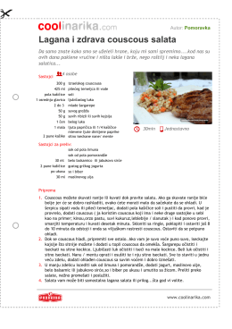 Lagana i zdrava couscous salata