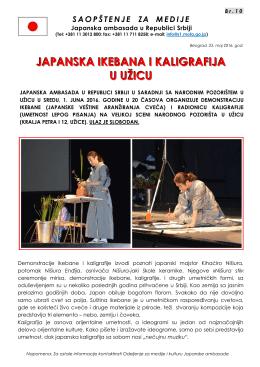 JAPANSKA IKEBANA I KALIGRAFIJA U UŽICU