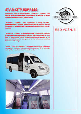red vožnje star city express