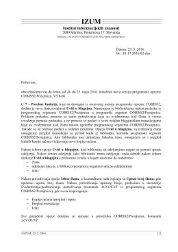 Datum: 23. 5. 2016. Br.: 10-17-2016/02-dso Poštovani