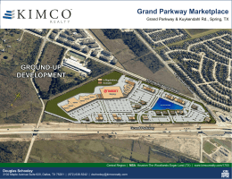 Grand Parkway Marketplace - Kimco Realty Corporation
