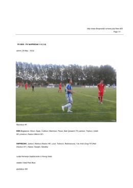 FK BSK - FK NAPREDAK (1-0)