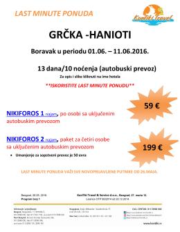 hanioti (01.06.2016.) - nikiforos apartmani, od 59 evra, buse