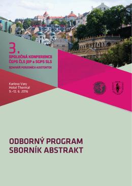 Program konference v pdf - 3. Společná konference ČGPS ČLS JEP