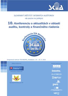 SKIIA - 10. konferencia o aktualitách v oblasti auditu, kontroly a