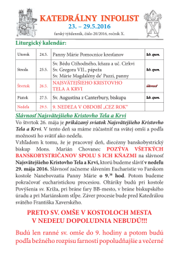 21.týždeň 16  - Katedrála Banská Bystrica